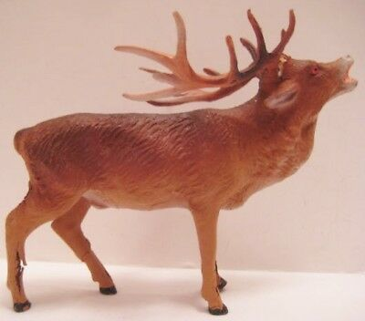 """Antique Composition Toy Christmas Reindeer Figure 4  1/2"""" Germany 1920"""