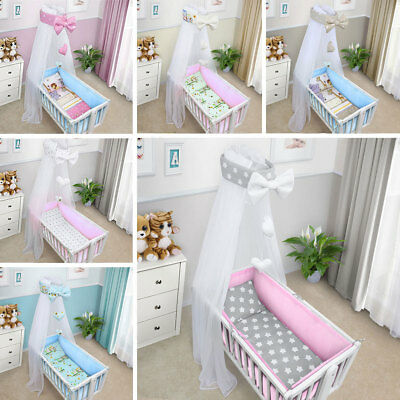 4 Sided Breathable Baby Mesh Liner Cot Cot Bed Bumper Air Safety Suffocate Pad