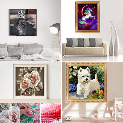 5D/3D Diamond Painting Embroidery Cross Stitch Picture Art Craft Kit Mural Décor