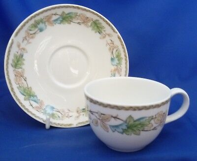 A Royal Doulton 'harbury' Tea Cup And Saucer