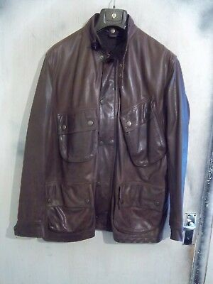 Vintage Barbour International Leather Motorcycle Jacket Size Xl-Xxl + Liner+