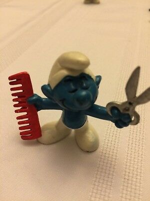 VINTAGE SMURF HAIRDRESSER shipping is for up to 10 smurfs