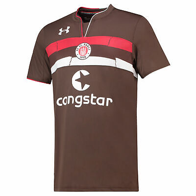 Official St Pauli Football Home Shirt Jersey Tee Top 2018 19 Under Armour Mens
