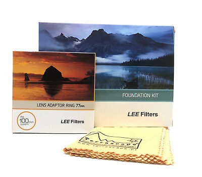 Lee Filters Foundation Holder Kit, 77mm Standard Adapter Ring  & Cleaning Cloth