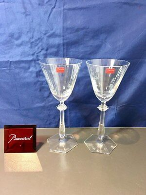 Baccarat Crystal Arcade Set 2 Water Glasses 2103321 Calici Acqua NEW IN BOX