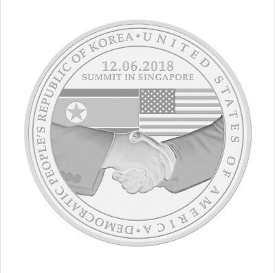 PREORDER President Trump Kim Jong-Un SINGAPORE Peace Summit Commemorative Coin