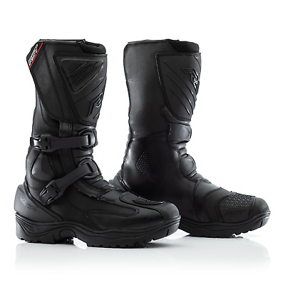 RST Adventure 2 II Leather WaterProof Motorcycle Boots - CE APPROVED - Black
