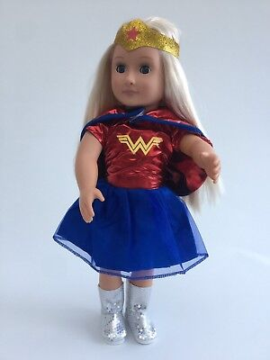 WONDER WOMAN Outfit, Baby Born,Our Generation, American Girl, Kidz n Cats  Dolls