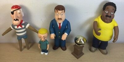 FAMILY GUY Action Figure Lot Loose Cleveland Tom Jake Tucker Seamus Levine Clam