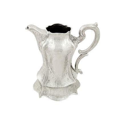 Antique Victorian Sterling Silver Jug 1844 - Stag & Bull