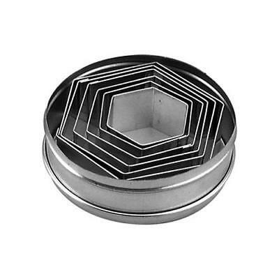 Hexagon Shaped Set of 6 Cookie Cutters