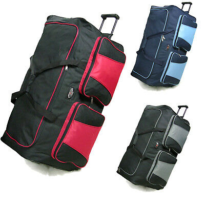 "XXL 34"" Travel Luggage Wheeled Trolley Holdall Suitcase  Duffel Cargo Bag 154 L"