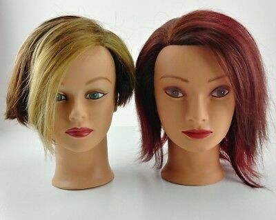 Vintage HairTraining Head Human Hair Mannequin Diane Fromm Penelope Hair Art