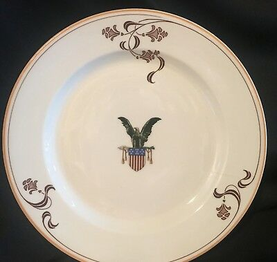"1900s-1930s Arts & Crafts Period Majestic Eagle 10"" Service Plate OPCO Syracuse"