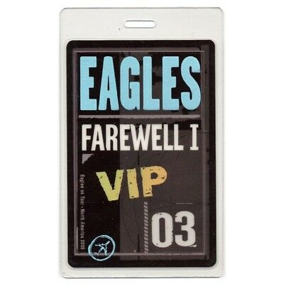 Eagles authentic 2003 concert Laminated Backstage Pass Farewell 1 Tour VIP