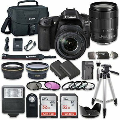 Canon EOS 80D Camera with Canon EF-S 18-135mm f/3.5-5.6 IS USM Lens + More