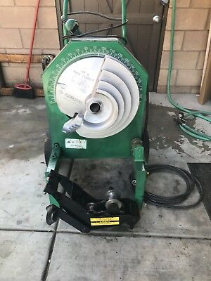 """Greenlee 555 Pipe Bender Machine W/ EMT Roller Support For 1-1/2"""" To 2"""""""