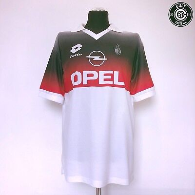 AC MILAN Lotto Vintage Retro Football Training Shirt 1995/96 (L) Maldini Baggio