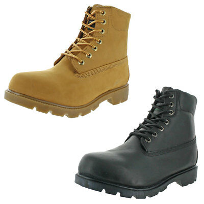"""Men's 6"""" Waterproof Nubuck Leather Thermolite Lining Work Boots Shoes"""