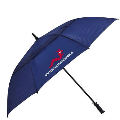 "Woodworm 60"" Double Canopy Windproof Vented Golf Umbrella (Navy)"