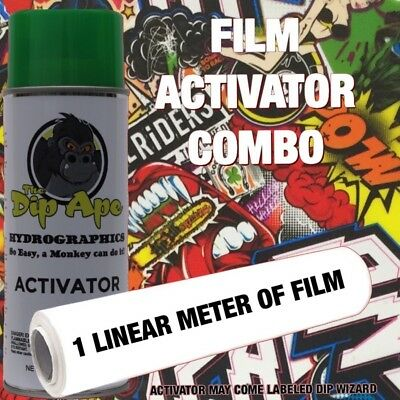 STICKER BOMB 24 DIP APE ACTIVATOR FILM COMBO HYDROGRAPHIC WATER TRANSFER