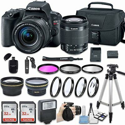 Canon EOS Rebel SL2 Camera w/ EF-S 18-55mm f/4-5.6 IS STM Lens+ More Accessories