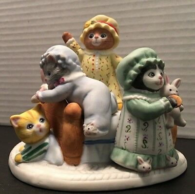 "Schmid Kitty Cucumber Music Box Plays ""Thank Heaven for Little Girls"""