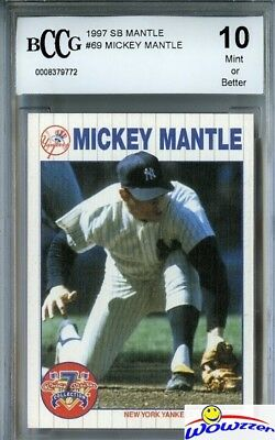 1997 Scoreboard #69 Mickey Mantle Beckett 10 MINT Yankees Hall of Fame
