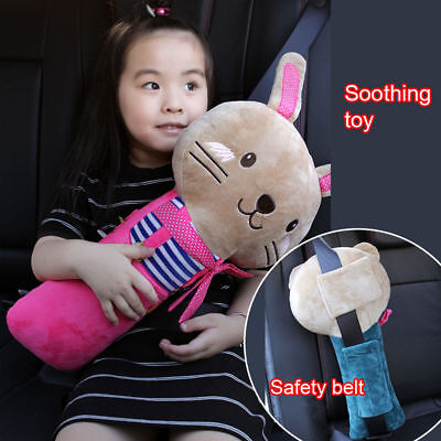 Kids Car Safety Strap Padded Cover Pillow Seat Belt Pad Child Shoulder Cushion N