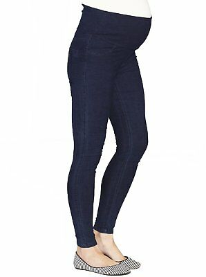 Maternity Jeggings High Waist Support Deluxe Denim Leggings Pants Jeans Angel 16