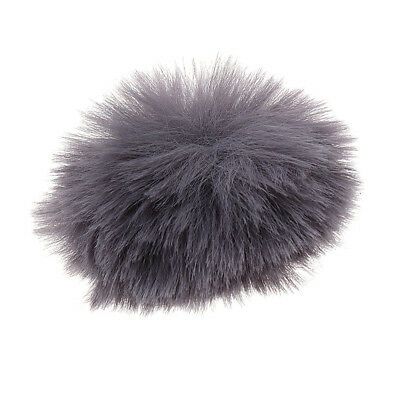 Lavalier Microphone Mic Fur Wind Muff for Lavalier Lapel Microphone Mic Gray
