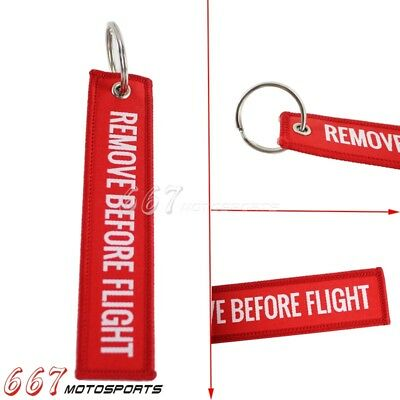 Streamer Remove Before Flight Keychain Tags For Motorcycle Car Luggage Key Ring