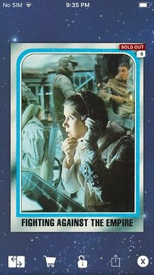 Topps Star Wars Digital Card Trader ESB Selects Fighting The Empire Insert