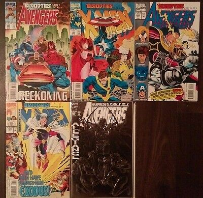 The Avengers & X-Men: Bloodties Complete set: NM- (9.2) High Grades!!!