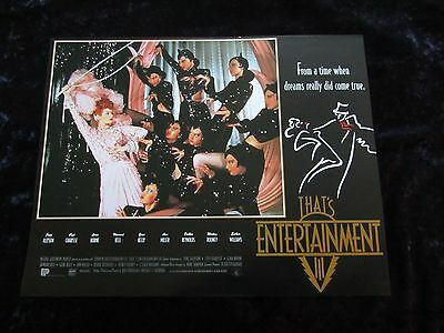 THATS ENTERTAINMENT PART III lobby card #6 MGM MUSICALS
