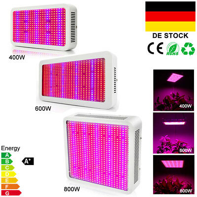 400W 600W 800W LED Grow Light Panel Lampe Voll Spektrum Pflanze Blumen Gemüse DE