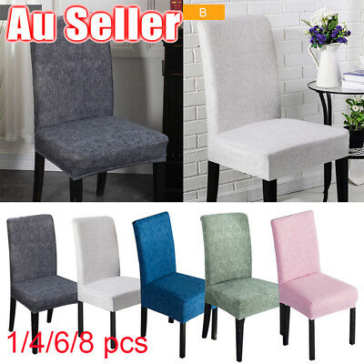 AU 4/6/8pcs Fit Dining Chair Covers Stretch Cover Protector Slipcover Washable