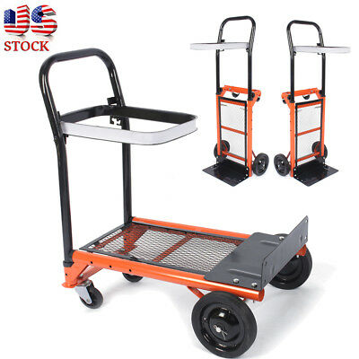 170LBS Heavy Duty Folding Hand Truck Cart Dolly Collapsible Luggage Trolley Cart