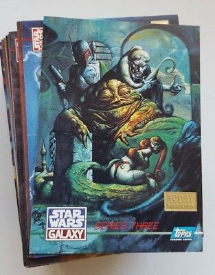 Star Wars Galaxy Series 3 Trading Card Complete Set - NM - 1995