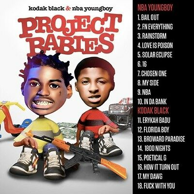 NBA YOUNGBOY KODAK BLACK PROJECT BABIES Mixtape Trap Music CD FEB 2018