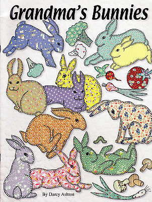 Grandma's Bunnies - fabulous vintage style applique book - Ashton