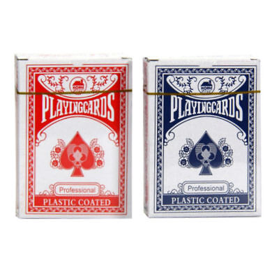 1/2/4/8/12/24 Poker Playing Cards Plastic Coated Card Blue Red Decks Not Bicycle