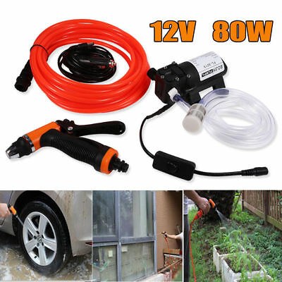 12V Portable 80W 160PSI High Pressure Car Electric Washer Wash Pump Cleaning
