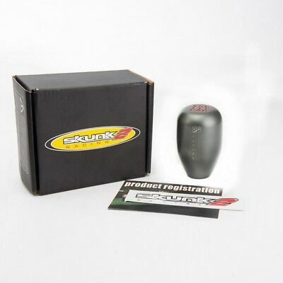 SKUNK Gray BILLET ALUMINIUM 5 SPEED GEAR SHIFT KNOB M12*1.25