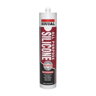 Qty 1 SOUDAL All Purpose Silicone 300ml CHARCOAL / MONUMENT