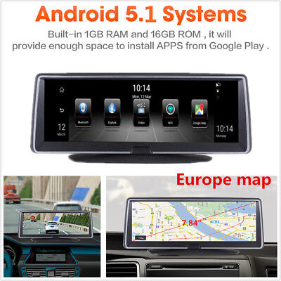 """7.84"""" Touch IPS 4G ADAS Android 5.1 Wifi Car GPS Navigation DVR Recorder Camera"""