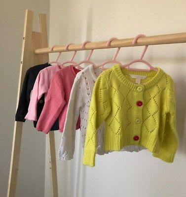 Bulk Baby Clothes - Girl's x5 multi-pack gorgeous Cardigans Size 0 (6-12 months)