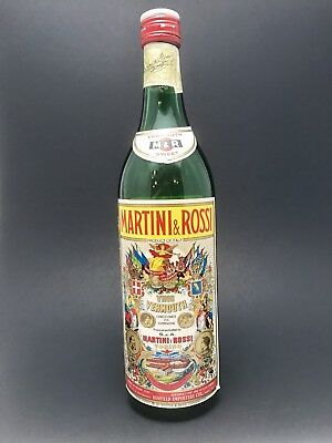 Vintage Rare Martini & Rossi Sweet Vermouth Empty Bottle-Collectible