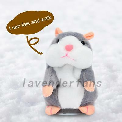 Talking Hamster Repeats What You Say Electronic Talking Funny Toy Kid Gifts AU
