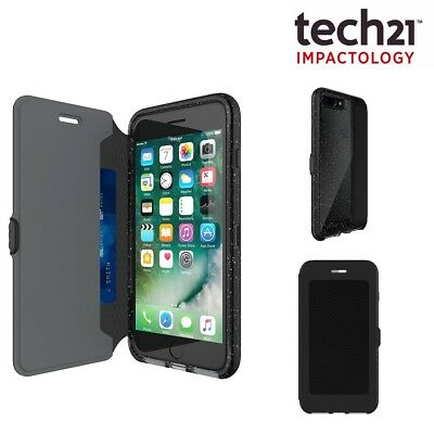 Tech21 EVO Wallet Active Flip Cover Card Holder Case for iPhone 8/7 Plus Black